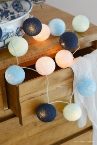 BIG BLUE Cotton Ball Lights